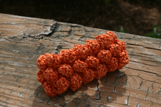 Completed Knit Bobble Bracelet