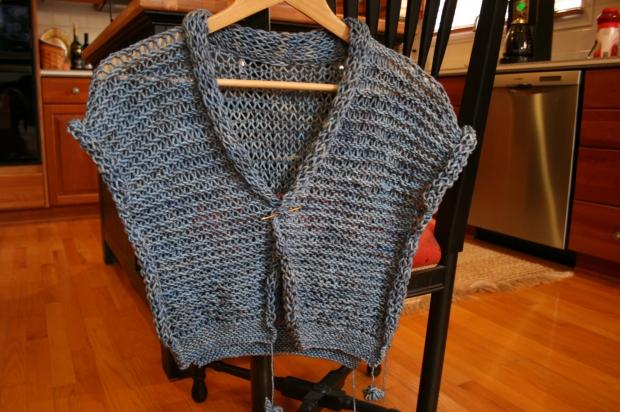 Drop Stitch Knitted jacket - Filati Magazine #39
