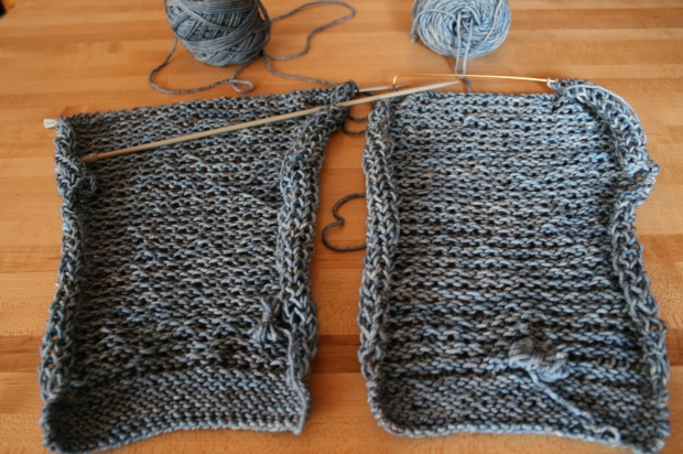 Knitted Drop Stitch Jacket Fronts
