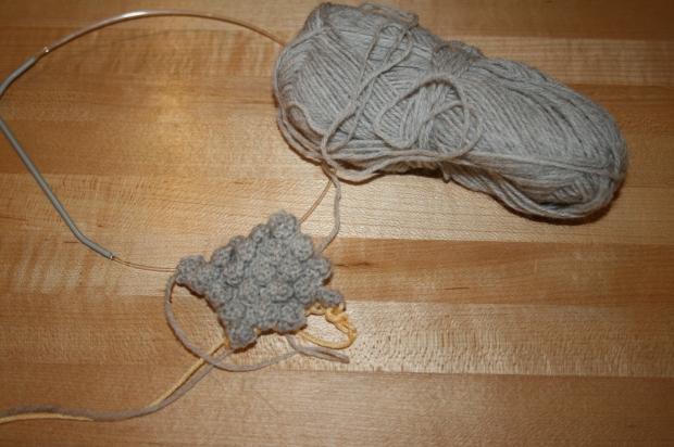 Grey Knitted Bobble Bracelet