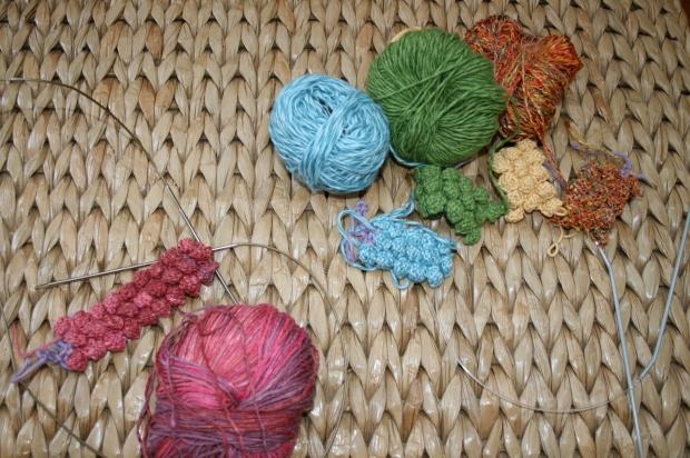 Knitted Bobble Bracelets