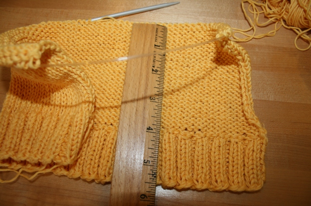 Knitted Cap-Sleeve Sweater Progress