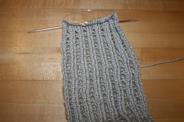 LacyRibScarf Back