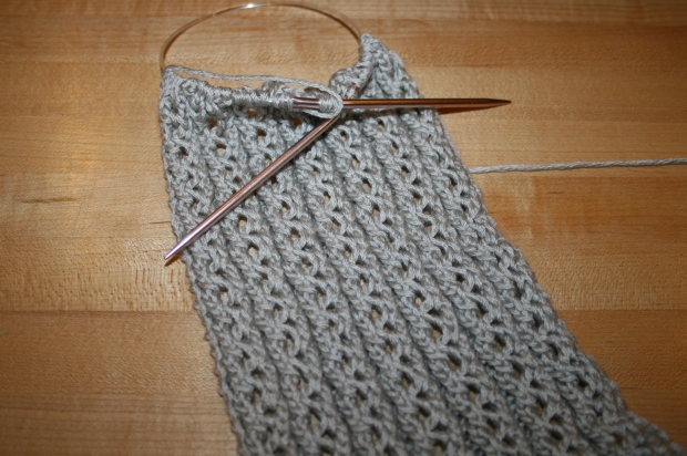 LacyRibScarf Front