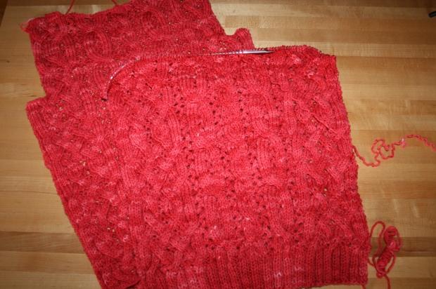 ValentineSweater ProgressFront6